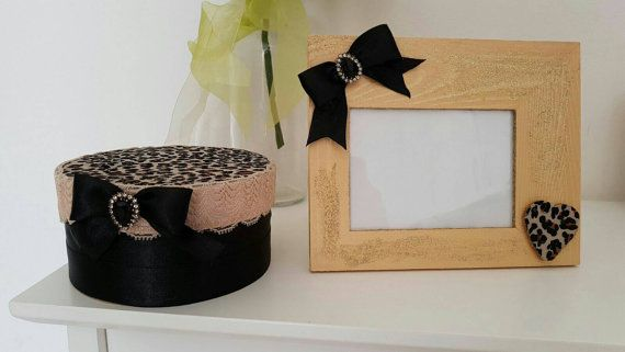 Guarda questo articolo nel mio negozio Etsy https://www.etsy.com/it/listing/469875242/leopard-set-cornice-scatola