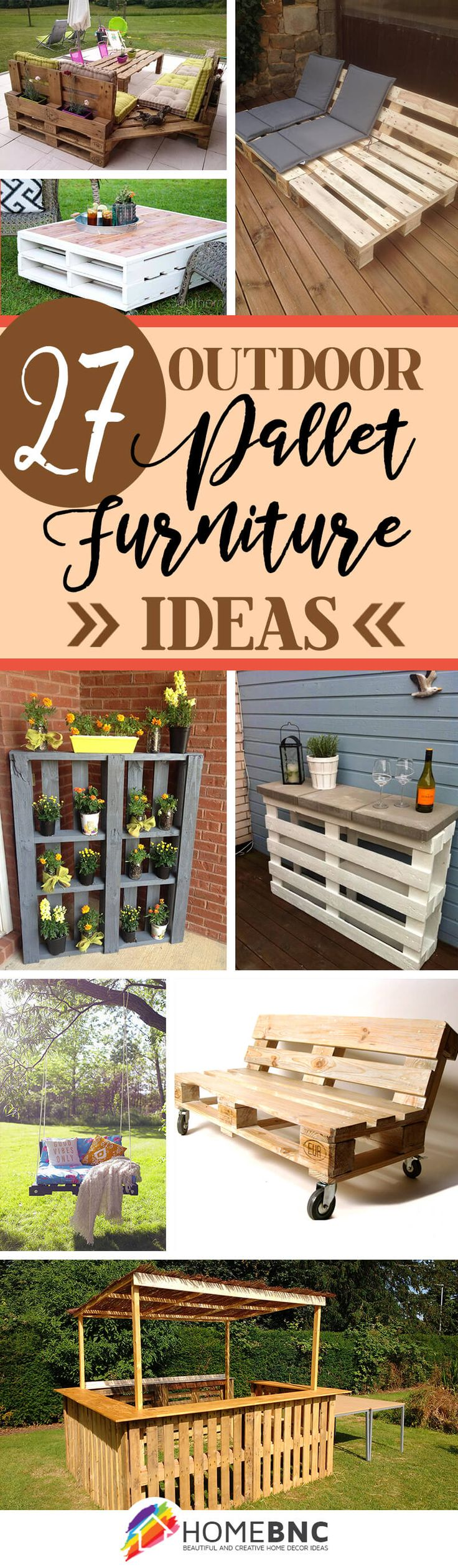 Homemade outdoor furniture ideas - 27 Stunning Outdoor Pallet Furniture Ideas You Ll Love
