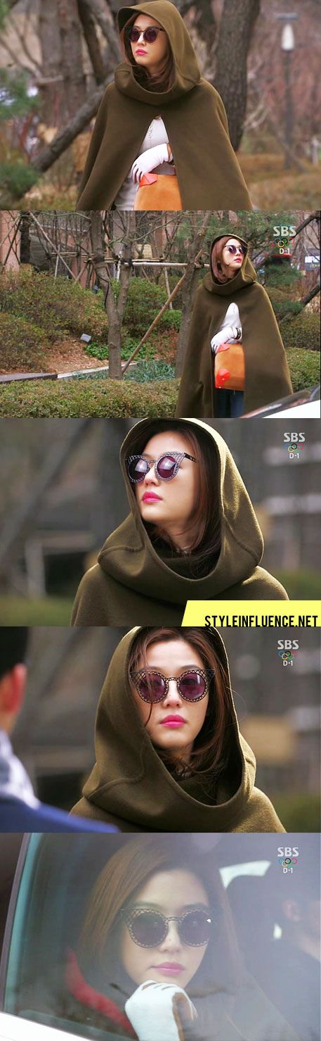 [Korean Drama Fashion] You Who Came from the Stars, Jun Ji Hyun – Cagefighter Eyewear by House of Holland, Hermes F/W 2013 Cape