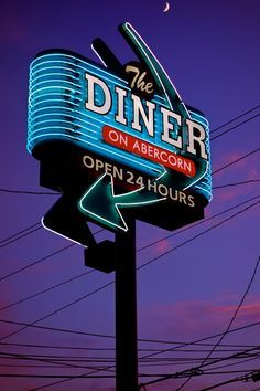 american diner neon sign