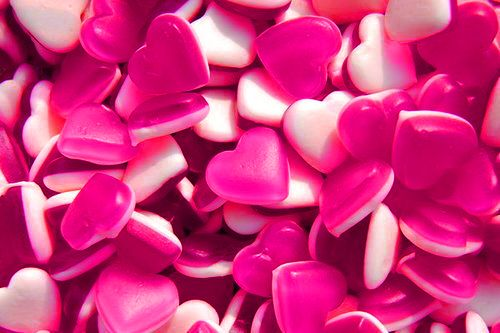 love heart sweets for valentine's day