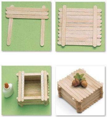 Como hacer una caja con palillos                                                                                                                                                      Más
