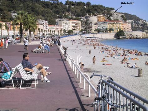 The warm sea breeze while walking down the boadwalk in Nice France made the cold Minnesota weather seem so far away
