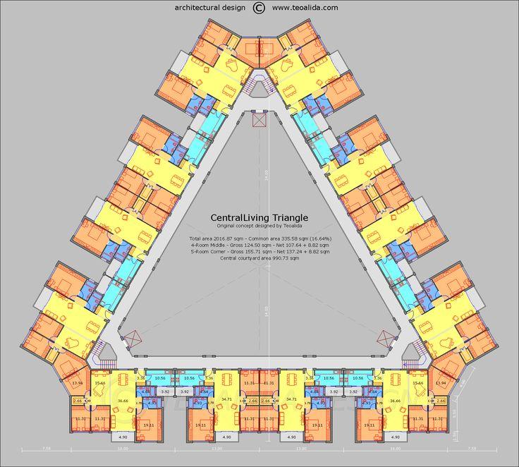 CentralLiving Triangle floor plan