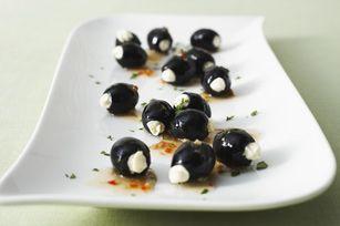 Zesty Stuffed OlivesRecipe, Black Olive, Stuffed Olive, Food, Stuffed Black, Italian Dresses, Appetizers, Cream Cheeses, Zesty Stuffed