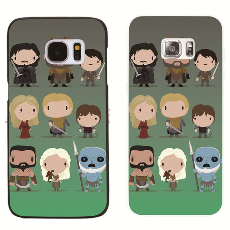 Game of Thrones plastic phone cover case For Samsung Galaxy S8 S8 Plus S3 S5 S7 S6 Edge s7edge transparent shell - Direwolf Shop Direwolf Shop