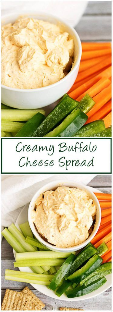 A creamy buffalo cheese spread made with cream cheese, hot sauce, and sour cream. It's the perfect spicy spread for crackers and vegetables. via @berlyskitchen
