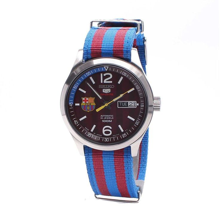 Seiko Sports Military Blue and Red Watch SRP305J1