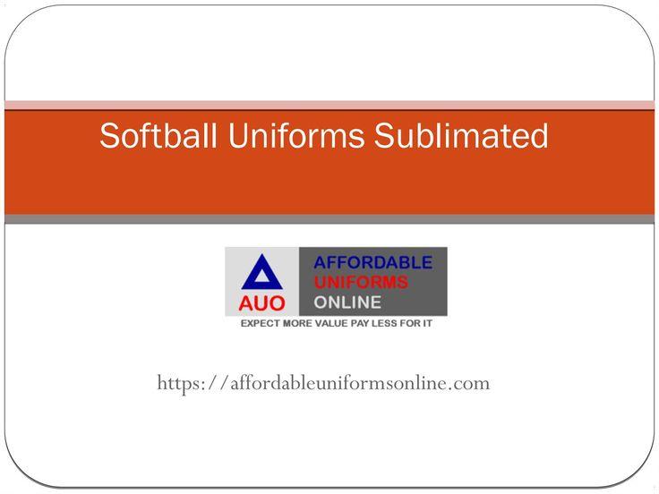 Softball uniforms sublimated