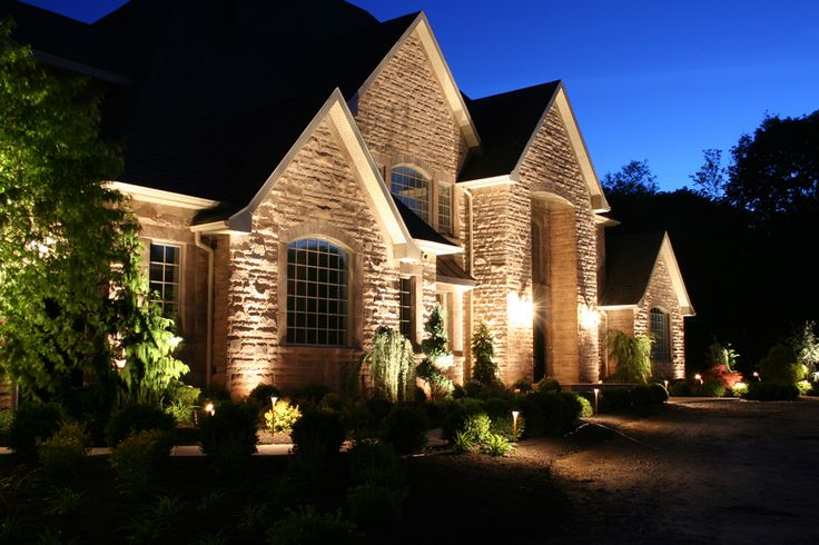 I love uplighting on a house up date on up lights have for Exterior home lighting design