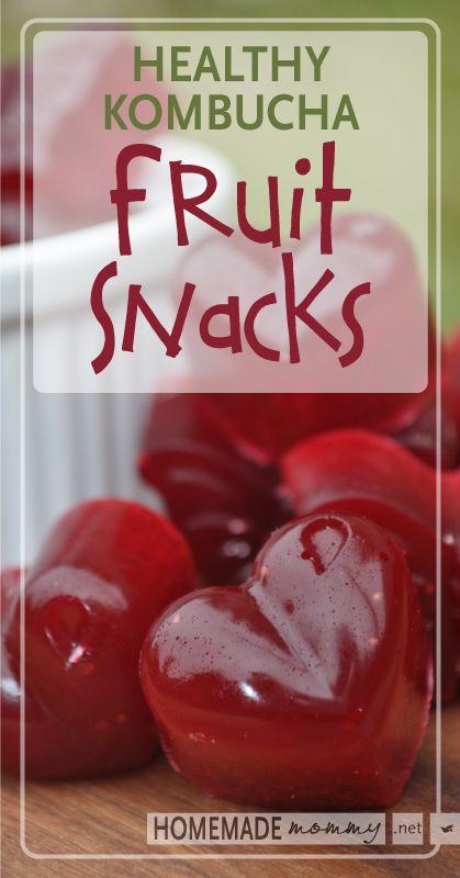 Homemade Healthy Kombucha Fruit Snacks | www.homemademommy.net #recipe #kidfriendly