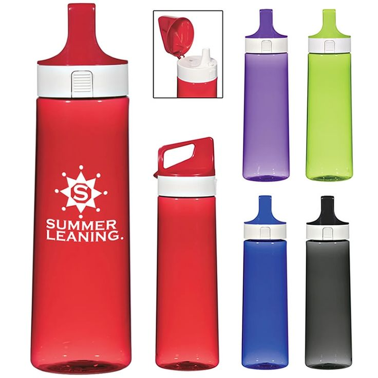 Promotional 28 oz. Round Pop-Top Bottle | Customized 28 oz. Round Pop-Top Bottle | Promotional Water Bottles
