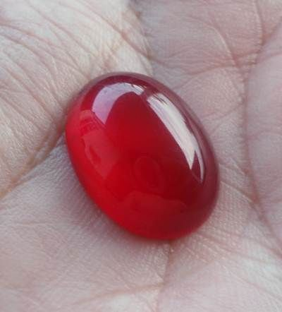 Harga batu akik merah delima
