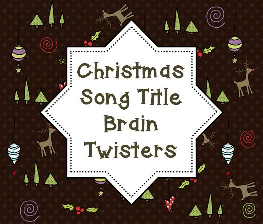 Christmas Song Titles Game {free printable} This would be a great activity to challenge your students critical thinking skills this last week before the break!
