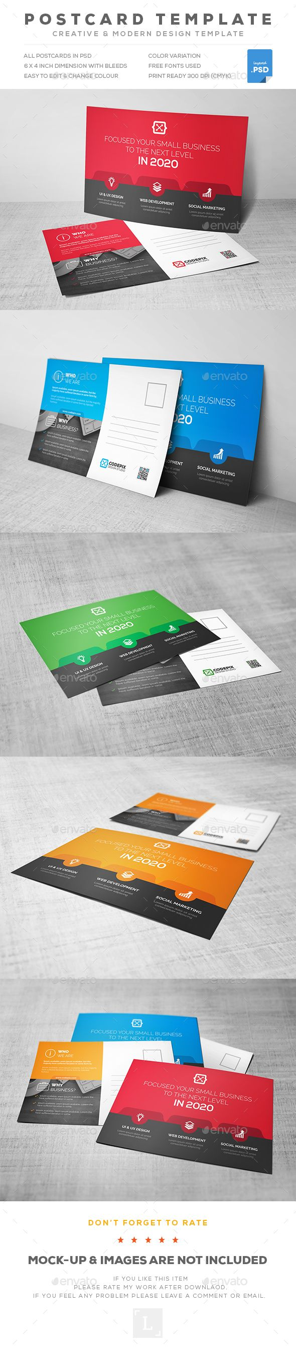 Postcard Template  — PSD Template #advertisement #marketing postcard • Download ➝ https://graphicriver.net/item/postcard-template/18264770?ref=pxcr