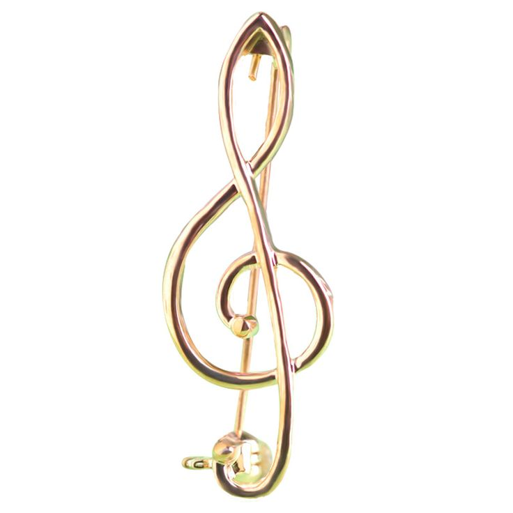 Simple Style Music Note Brooches & Corsage Gold Large Broches Special Unisex Broche Hijab Pin Up Clip Scarf Broche Bijoux