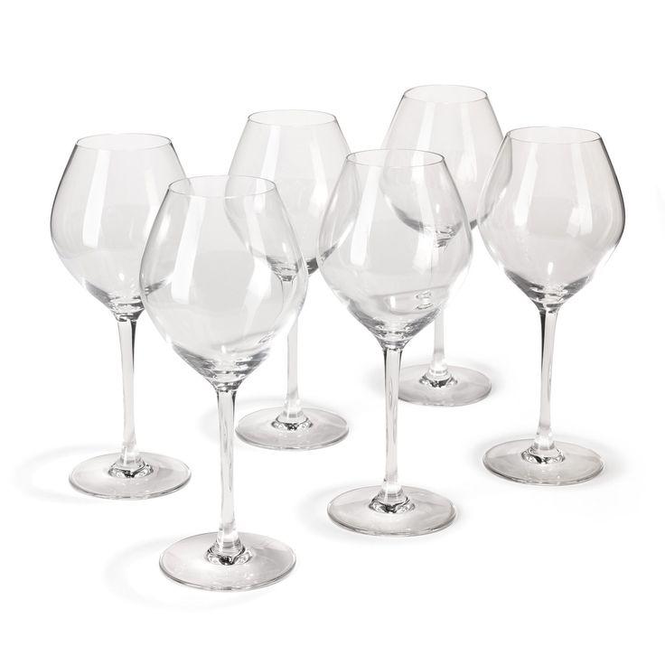 Lot de 6 verres à vin en Diamax 47cl Transparent - Emotion table - Les verres à pied - Verres et carafes - Arts de la table - Décoration d'intérieur - Alinéa