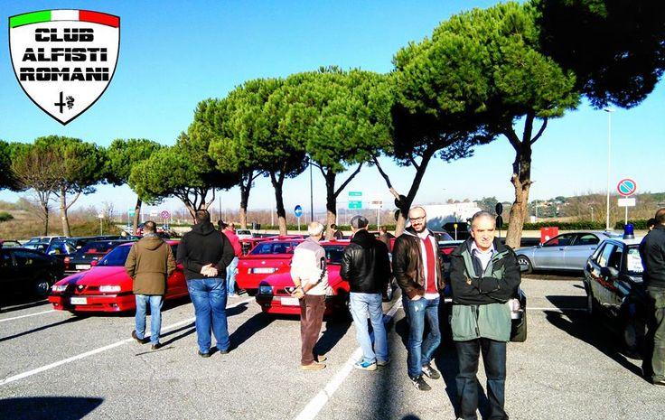 Incontro auto storiche con il Club Alfisti Romani all'area di servizio Settebagni domenica 21-12-2014. @alfaromeoglobal #Alfa #AlfaRomeo #AlfistiRomani https://www.facebook.com/alfistiromani