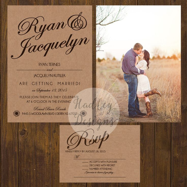 Rustic Wedding Invitations, Country Wedding Invitations, Western Wedding…