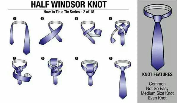 18 ways to tie a necktie: 2.Half Windsor Knot   mens ...