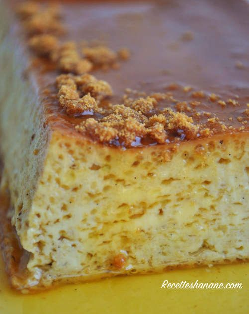 Crème aux oeufs, caramel et Spéculoos... de P. Conticini