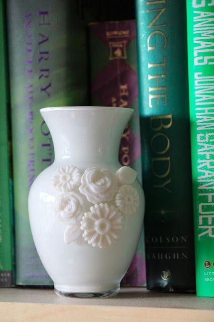 DIY milk glass vase using Mod Melts
