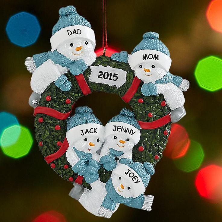 Snow Buddies Family Wreath Ornament