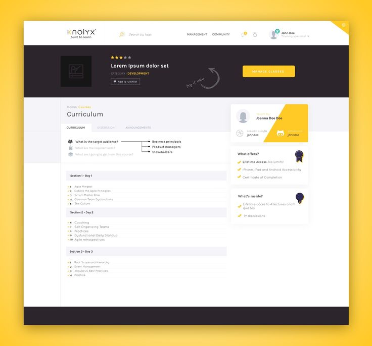 Knolyx course page view