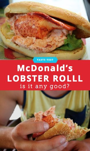 We taste tested McDonald's Lobster Roll and this what we thought