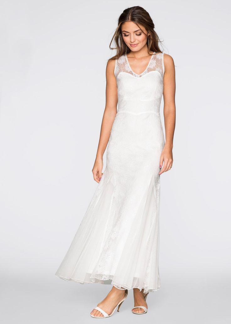 Jurk wolwit - BODYFLIRT nu in de onlineshop van bonprix-fl.be vanaf 44,99 ? bestellen. Prachtige jurk voor bijzondere gelegenheden! Wondermooi versierd met ...