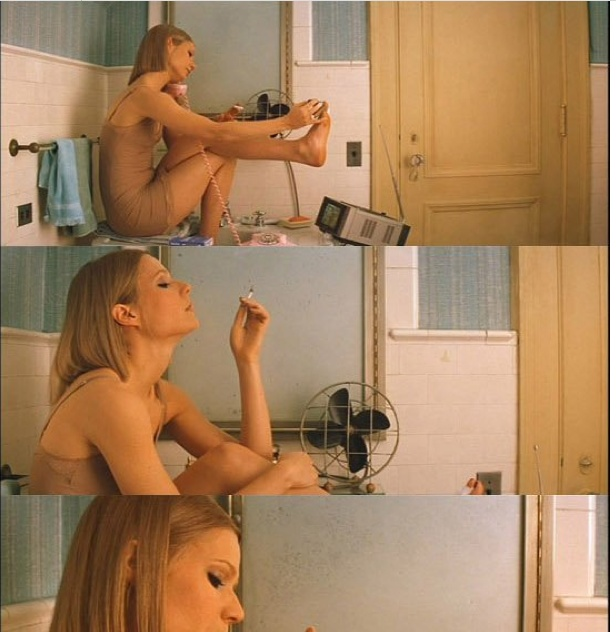 The Royal Tenenbaums (2001) - Gwyneth Paltrow as Margot Tenenbaum, directed by Wes Anderson, written by Wes Anderson and Owen Wilson