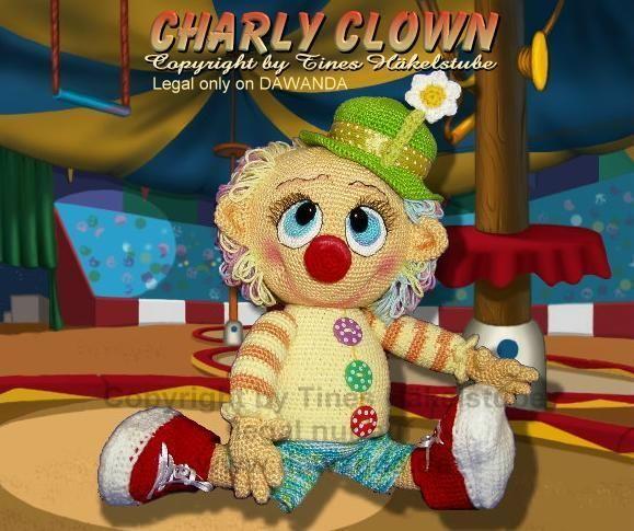 Häkelanleitung,PDF, Charly Clown, Püppchen von Tines Häkelstube auf DaWanda.com