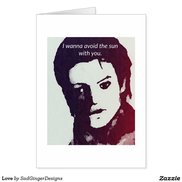 Love Greeting Card #darkart #art #drawing #illustration #funny #gingerart #mixedmedia #hipster #sadgingerdesigns #greetingsfromasadginger #greetingcards #specialoccasions #love