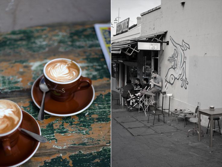 Taking coffee on the streets of Redfern