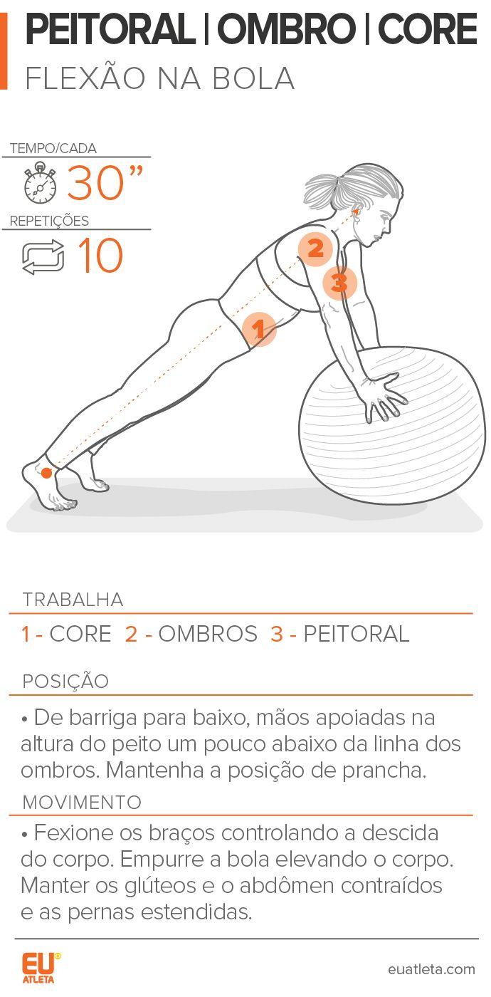 Flexão na bola: exercite o peitoral, os ombros e fortaleça músculos do core #globoesporte