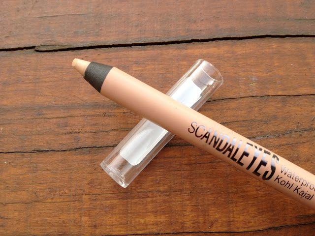 Brightens tired eyes and is less harsh than white (apply to waterline) - Rimmel Scandaleyes Waterproof Kohl Eyeliner in Nude