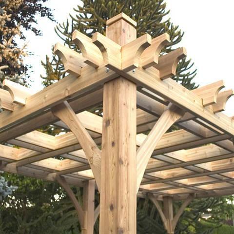 Backyard Prefab Diy Wood Pergola Kits