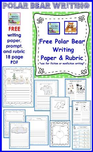 free polar bear writing and rubric