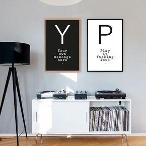 Your Message N°9 | Bei Yourownage kannst du dir dein individuelles Poster gestalten und auf Fine-Art-Papier drucken lassen. Dabei hast du die Wahl zwischen verschiedensten Typografien und Designs. Wir drucken auf feinstem Hahnemühle Papier. #artprint #poster #message #yourownage #custom #owntext