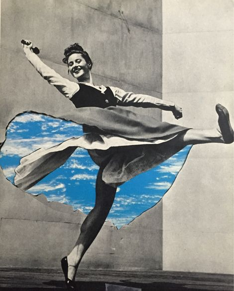 Deborah Stevenson, Happy Dance - collage on paper 7.16.2015 on ArtStack #deborah-stevenson #art