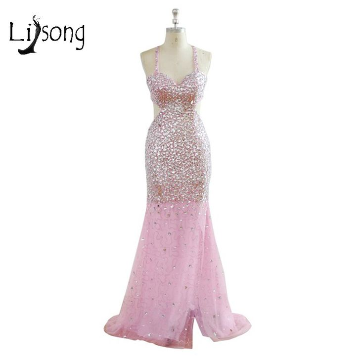 >> Click to Buy << Pink Beaded Mermaid Prom Dress vestido de noiva Customized Prom Party Red Carpet Dress Floor Length Mermaid Dresses Maxi Gowns  #Affiliate