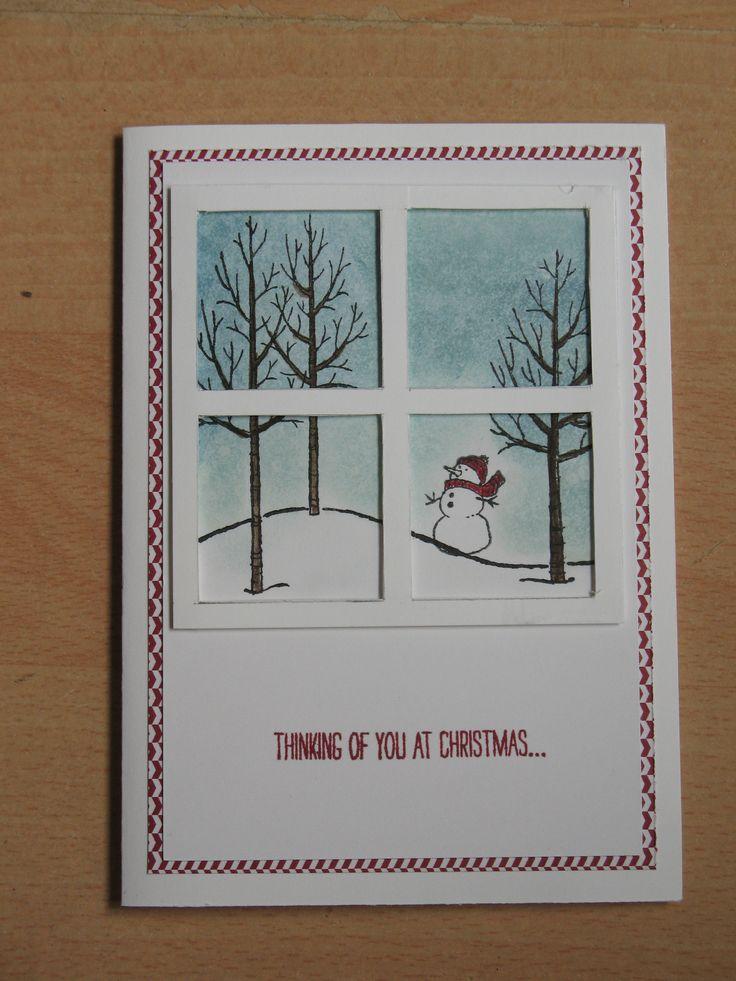 Kerst is nog een paar maanden weg, maar als ik iedereen een kaartje wil sturen moet ik nu echt beginnen. White Christmas set.