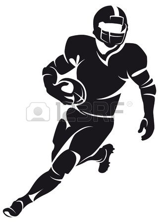 American football player, silhouette photo