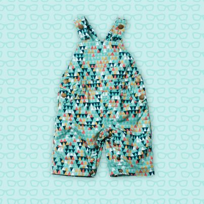 Pumpkin Patch Print Dungaree - 100% cotton, available in sizes 0-3m to 24m http://www.pumpkinpatchkids.com/