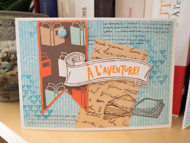 Jeu n°3 de la crop de l'été Lubiscrap. Carte pour les mordus de lecture #livre #carte #carterie #cardmakin #scrap #scrapbooking #book #livre #lecture #faitmain #aventure