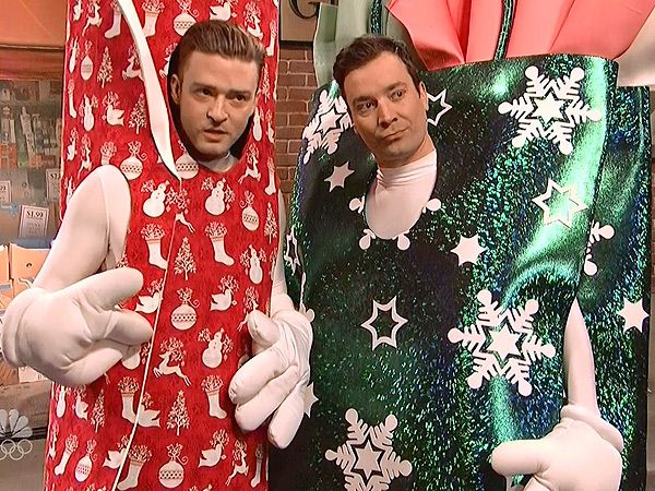 "Saturday Night Live: Jimmy Fallon and Justin Timberlake, ""Wrapping Paper Rap."""