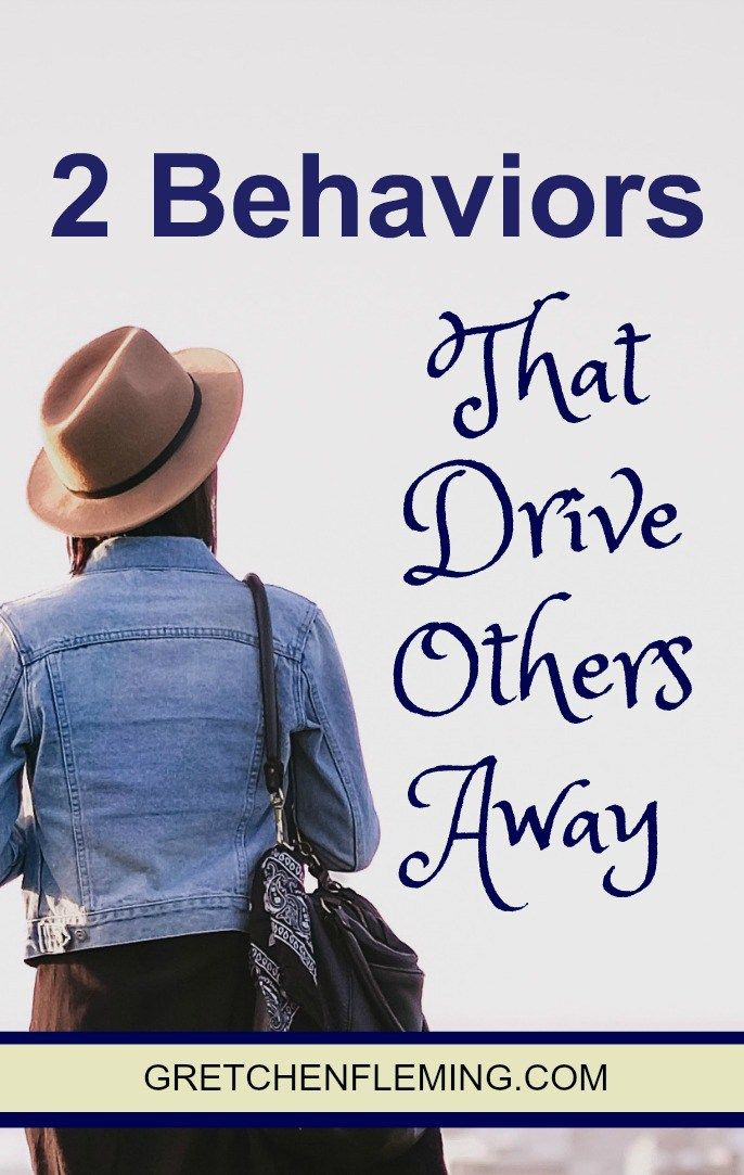 Learn the 2 behaviors that could be driving others away from you. #behaviors #friendships #friends #people