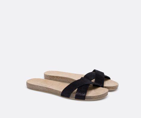 Bio sandals with crossover trim - OYSHO