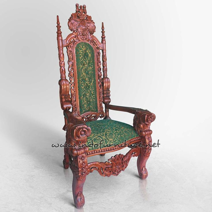 Kursi Raja Mawar KML-008 Walnut | Indo Furniture
