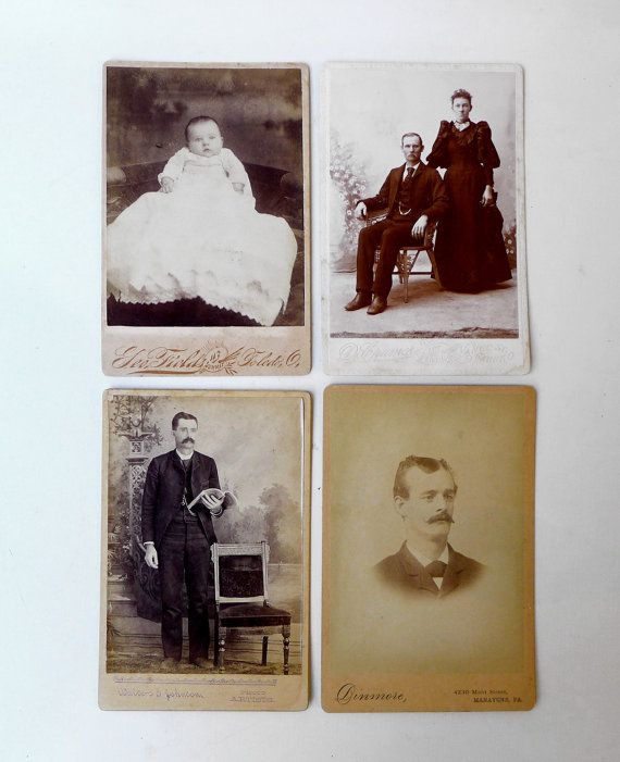 Antique Victorian sepia CDV studio portrait by evaelena on Etsy